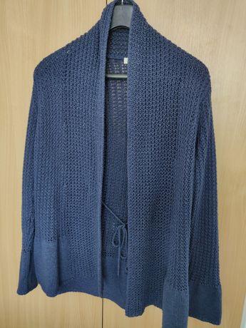 Cardigan tricotat albastru