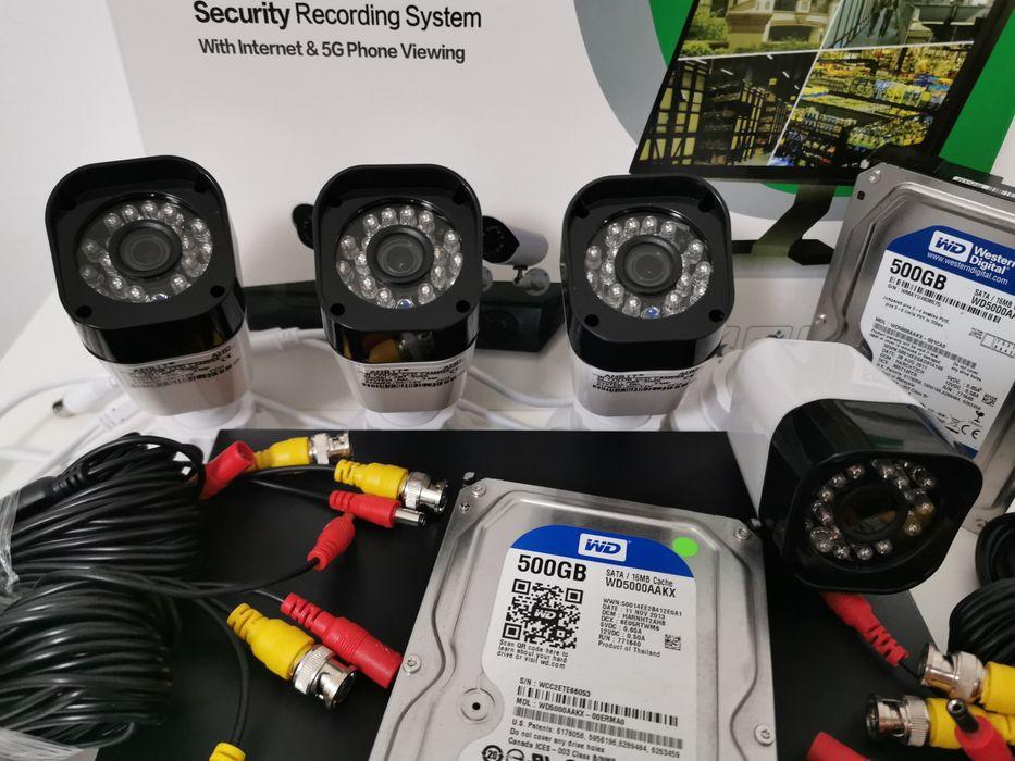 Sistem supraveghere 3Mpx 4Camere FullHD IR50m + Hard Disk 500GB Bucuresti - imagine 1