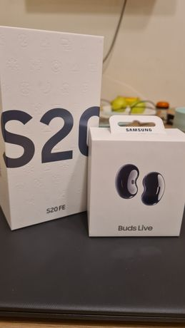 Samsung Galaxy S20 FE+ беспроводные наушники Samsung Galaxy Buds Live