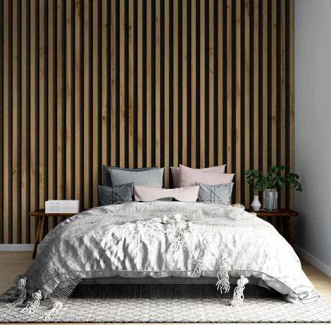 Riflaj, Panou riflat decorativ din lemn  275cm-100cm