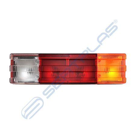 Стоп за товарен автомобил - 0195LSB / 4 секции / без кабел / бял+жълт