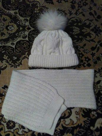 продам шапку+шарф зима