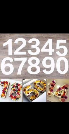 """Шаблон за торта """"цифра"""""""