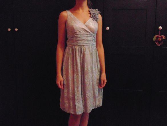 Официална дантелена рокля, размер S