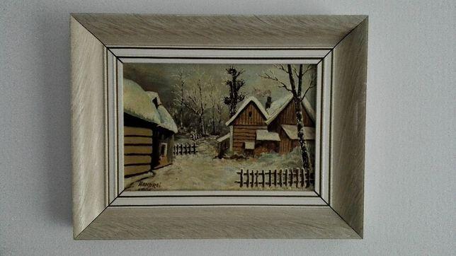 Pictura cu peisaj de iarna