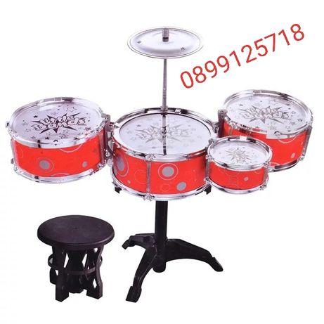 Детски барабани със столче/Комплект детски барабани