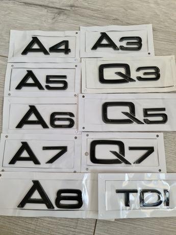 Emblema-Neagra-Audi-A3-A4-A5-A6-A7-Q3-Q5-Q7-TDI