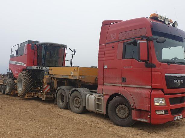 Transport combine agricole