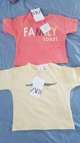 Set tricouri zara cu eticheta 6 9 luni 74 cm