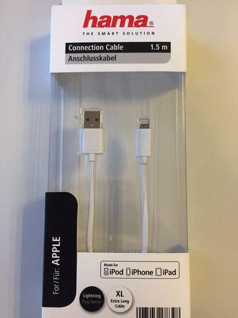 Cablu de date Lightning Hama 1.5 m pentru IPad , IPod si IPhone