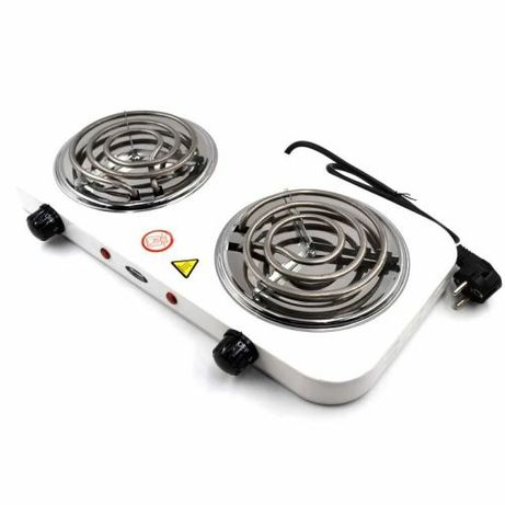 Двухконфорочная настольная спиральная электроплита.Электрический плита
