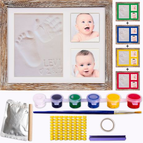 Рамка за бебе и снимки, бебешки отпечатък от глина