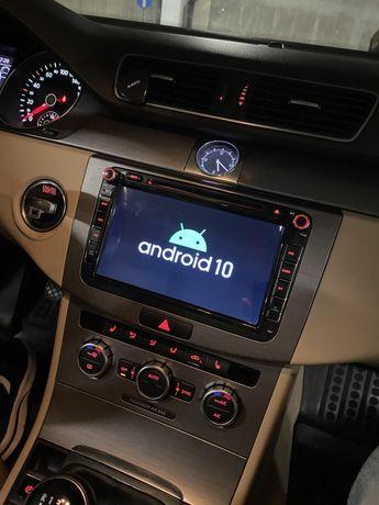 Navigație VW SEAT SKODA Android 10, DSP, CarPlay 2,4 Gb Ram GARANTIE