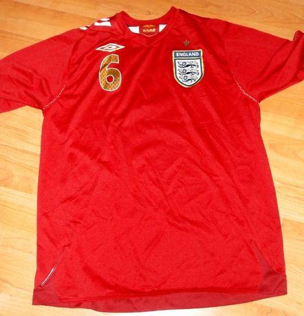 Tricou oficial fotbal Anglia , numarul 6 Terry , original Umbro