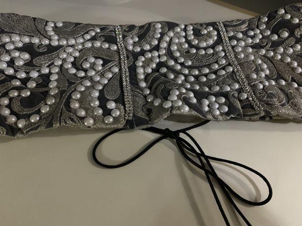 Cadoul perfect - Brâu unicat cu perle și ștrasuri