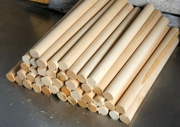 Дибли Ф23х300 дърво дървени дибли дюбели заготовки сглобки Арт проекти