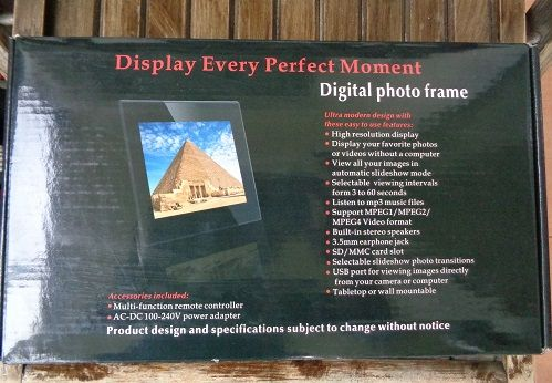 Display Every Perfect Moment Digital Photo Frame