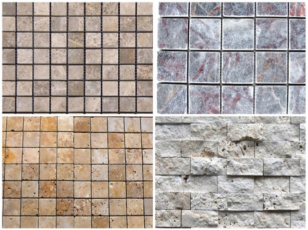 Mozaic din marmura,travertin,piatra naturala. 138 ron /mp. Plus tva