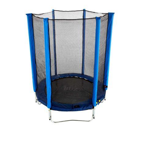 Trambulinacu plasa protectie, greutate maxima 170kg, albastra