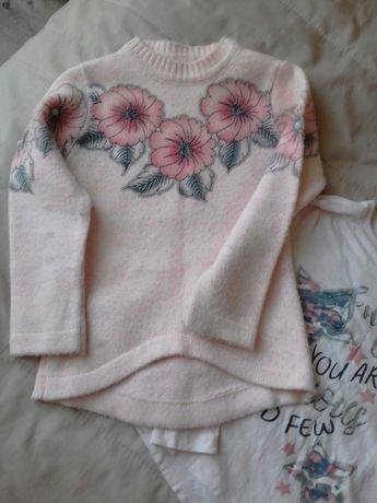 Пуловер и блуза за р. 128