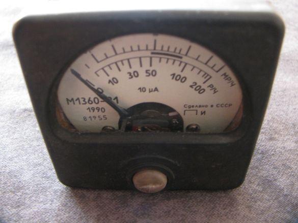 Микроамперметър М1360-21 СССР Отличен