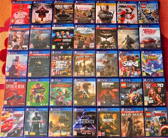 Нови ps4,ps3,GTA,Fifa,Nba,far,God,duty,Star,Lord,Mordor,Lego,Metal,Row