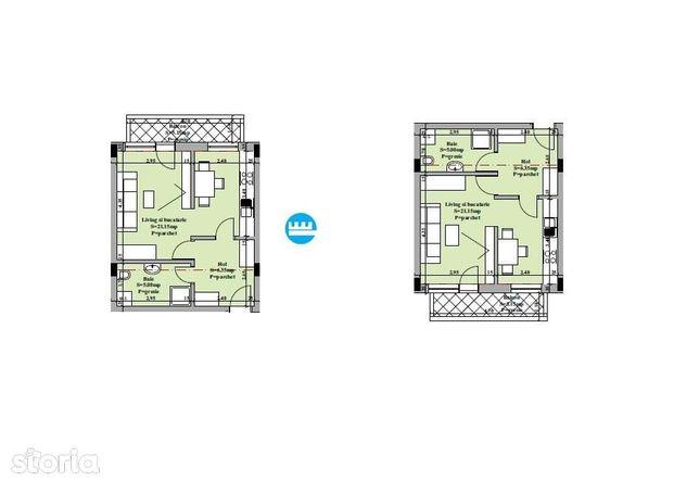 Apartament de vanzare 1 camera decomandat - Valea Adanca
