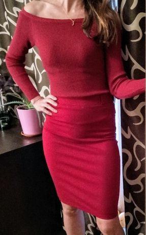 Елегантна блуза цвят бордо като нова
