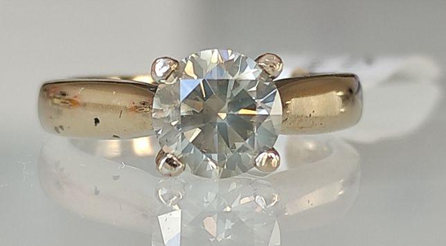 Inel logodna aur 18k si diamante 1.31ct