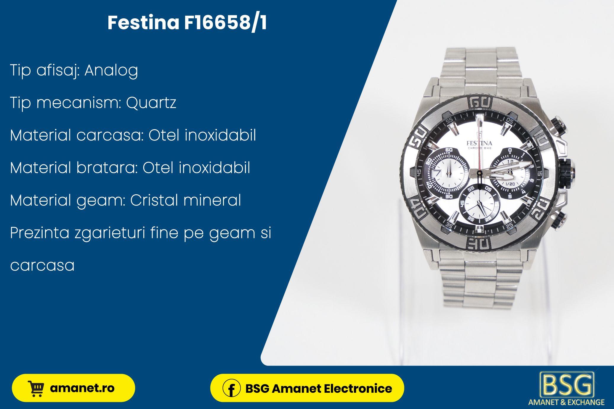 Ceas Festina F16658/1 - BSG Amanet & Exchange