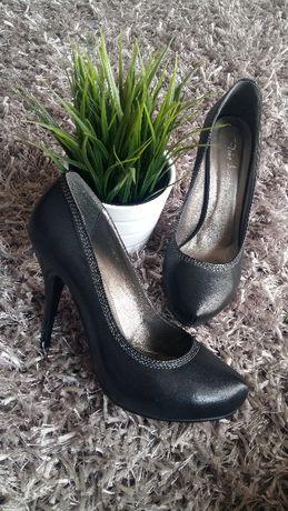 Официални обувки с ток - естествена кожа
