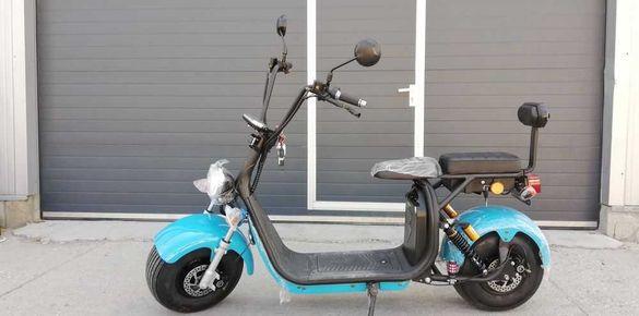 Електрически скутер/двуместен 1500w/Син
