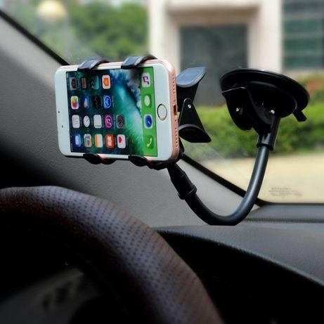 Универсална стойка за телефон за стъкло , с дълго рамо 360 градуса