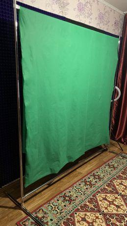 Хромакей 1,8 Х 2,5 | Зеленый фон + Стойка