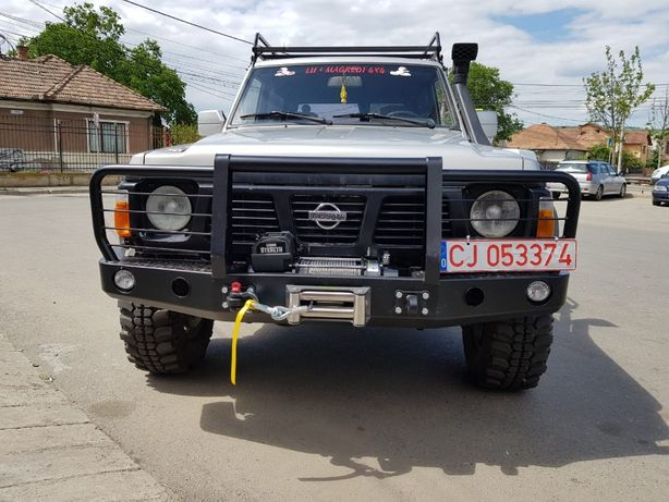 Bara fata de otel cu placa troliu - Nissan Patrol Y60