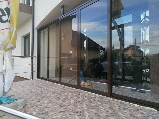 Sticla duplex cu rama aluminiu pentru închideri terase balcoane foisor