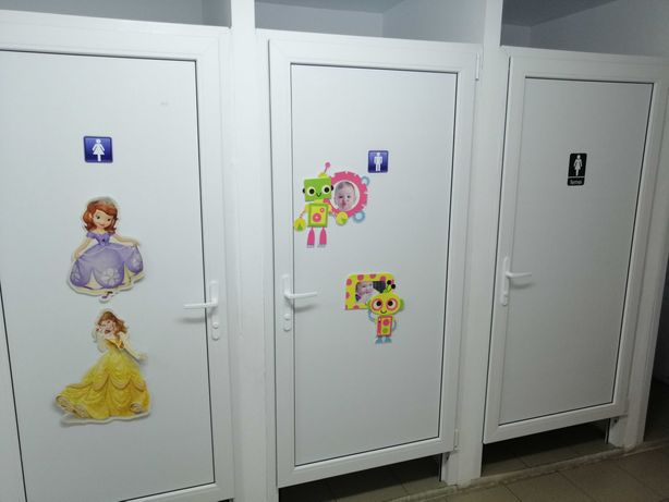 Uși pvc cabine toaletă