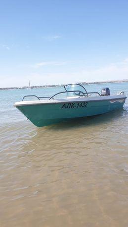 Лодка мотор ямаха 30 яхта катер тележка телешка