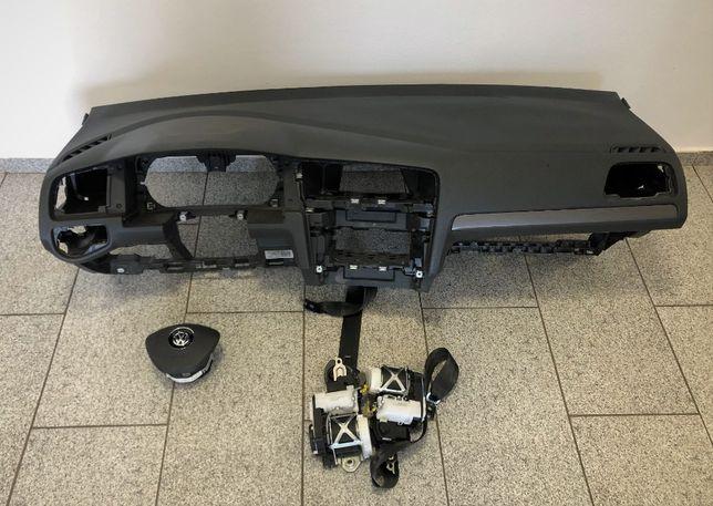 VW Golf 7 VII kit airbag volan pasager genunchi cortina plansa bord