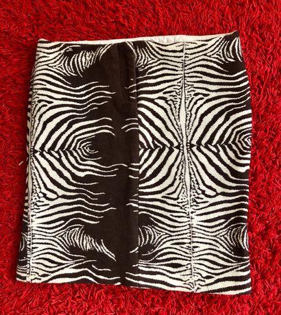 Fusta superba mini Just Cavalli , zebra, masura M, material gros, bbc