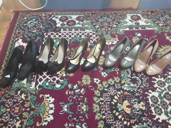 Обувки с ток  37,38,39 номер