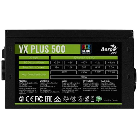 Блок питания Aerocool VX500 plus