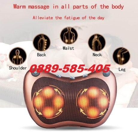 Новата шиацу Масажна възглавница с 8 глави за кола дома масажор масаж