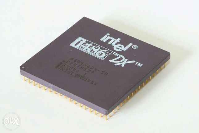 Procesor vintage Intel 486DX-33