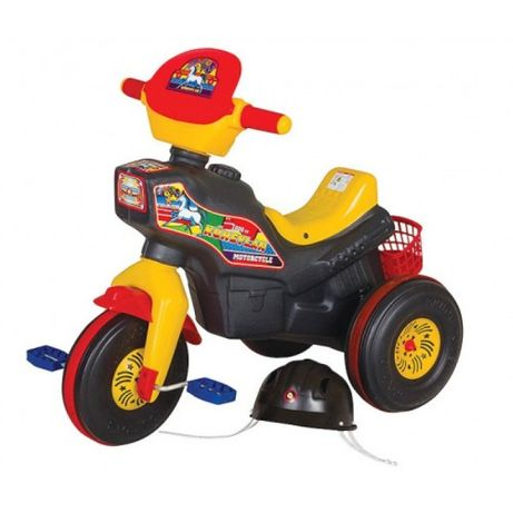 Детски мотор с педали, кош и каска (ГАРАНЦИЯ 24м) - триколка с педали