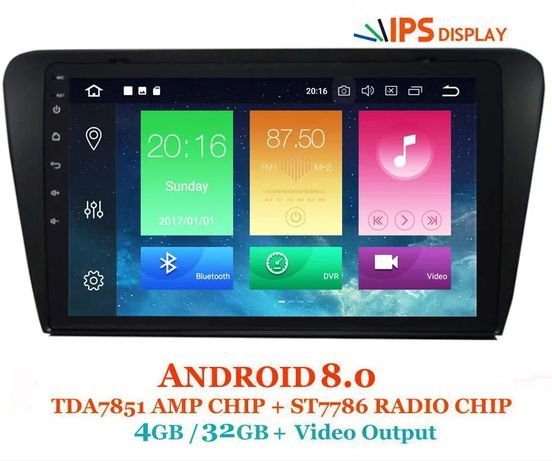 Navigatie Android 8 4Gb ram + 32Gb rom navi dedicata Skoda Octavia 3