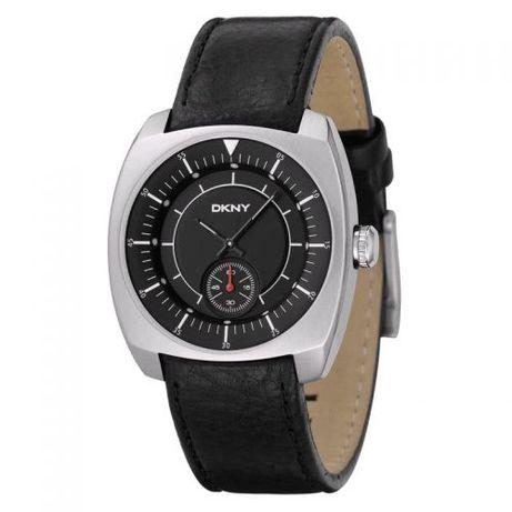 DKNY (Donna Karan New York) Mans Black Leather Watch Мъжки часовник