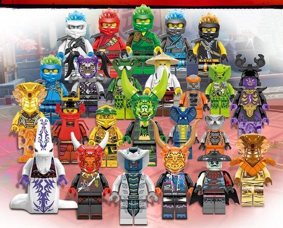 Set 24 Minifigurine tip Lego Ninjago sezon 11 cu Serpentini si masti