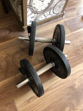 2 Gantere profesionale reglabile de 24 kg ambele pret 600 ron