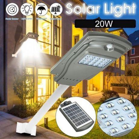 Lampa LED stradala solara,, gradina curte 20w, Gri